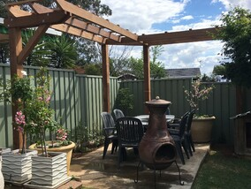 arbor timber pergola steel pergola get hammered builder carpenter narellan vale campbelltown oran park cobbitty