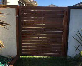timber gate steel gate get hammered builder carpenter narellan vale campbelltown oran park cobbitty